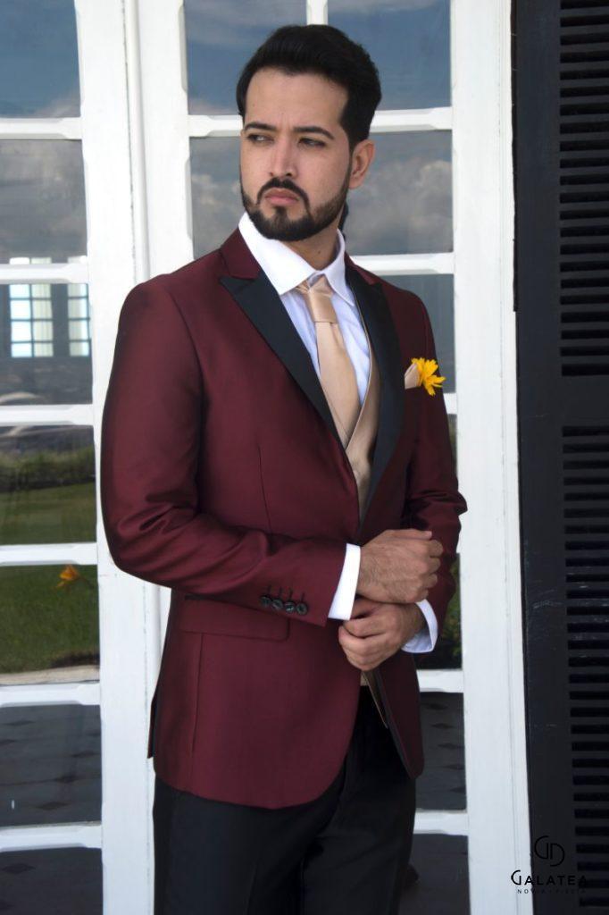 Trajes para hombre, esmoquin con chaleco y corbata